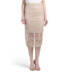Tj Maxx - Lace Midi Skirt - Lyst