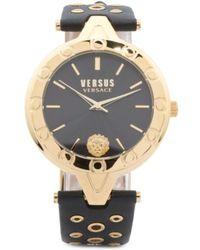 Tj Maxx - Women's V Eyelet Leather Strap Watch - Lyst