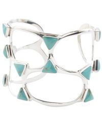 Tj Maxx - Made In Mexico Sterling Silver Turquoise Open Cuff Bracelet - Lyst