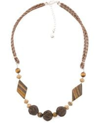 Tj Maxx - Made In Thailand Sterling Silver Wood And Stone Necklace - Lyst