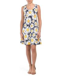 ab264d49187 Tj Maxx - Petite Sleeveless Sunflower Dress - Lyst