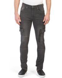 Tj Maxx - Moto Zip Cargo Jeans - Lyst