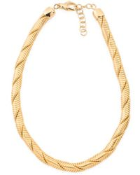 Tj Maxx - Made In Italy 18k Gold Plated Bronze Tubogas Necklace - Lyst