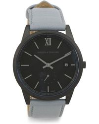 Tj Maxx - Swiss Made Saxon Leather Strap Watch - Lyst