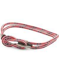 Tj Maxx - Made In Great Britain 925 Red Dash Padstow Rope Bracelet - Lyst