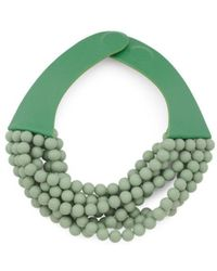 Tj Maxx - Handmade In Italy Leather Bella Matte Beaded Necklace - Lyst