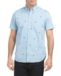 Tj Maxx - Bulldog Print Woven Shirt - Lyst