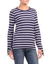 Tj Maxx - Striped Yarn Dyed Top - Lyst