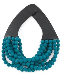 Tj Maxx - Handmade In Italy Leather Bella Luxe Matte Beaded Necklace - Lyst