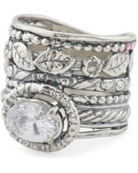 Tj Maxx - Made In Israel Sterling Silver Offset Cz Ring - Lyst