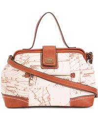 1e894651b7 Tumi Centro Padua Map Leather Bag in Brown - Lyst