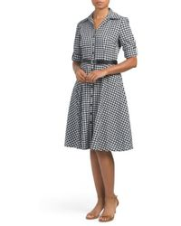 Tj Maxx - Gingham Dress With Belt - Lyst