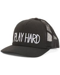 Tj Maxx - Play Hard Trucker Cap - Lyst