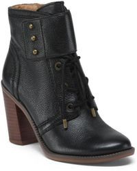 Tj Maxx - Grannie Collar Strap High Heel Leather Boots - Lyst