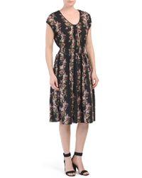 7b8c616992ff2 Zimmermann Stranded Garland Dress in Gray - Lyst