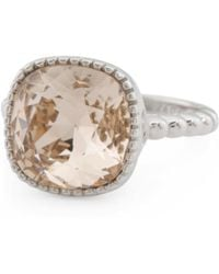 Tj Maxx - Sterling Silver Swarovski Crystal Beaded Shank Ring - Lyst
