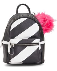 Tj Maxx - Striped Backpack With Pom - Lyst