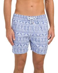 Tj Maxx - Abstract Luxury Printed Swim Shorts - Lyst