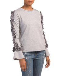 Tj Maxx - Made In Usa Bell Sleeve Ruffle Top - Lyst