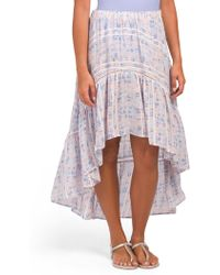 db06d3fc7c Surf Gypsy Gauzy Maxi Skirt Swim Cover - Up in Blue - Lyst