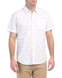 Tj Maxx - Short Sleeve Flamingo Print Shirt - Lyst