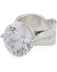 Tj Maxx - Made In Israel Sterling Silver High Set Cz Ring - Lyst