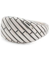 Tj Maxx - Men's Sterling Silver Brick Etched Signet Ring - Lyst