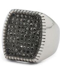 Tj Maxx - Men's Rectangular Hematite Stainless Steel Signet Ring - Lyst