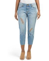 Tj Maxx - Allie Cropped Boyfriend Jeans - Lyst