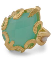 Tj Maxx - Made In Turkey Aqua Chalcedony And Pearl Ring - Lyst