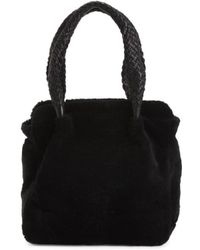 Tj Maxx - Made In Italy Leather Shearling Tote - Lyst
