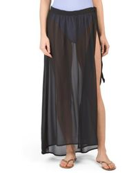 Tj Maxx - Solid Cover-up Wrap Skirt - Lyst