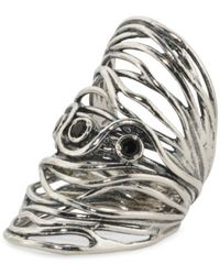 Tj Maxx - Made In Israel Sterling Silver Black Spinel Knuckle Ring - Lyst