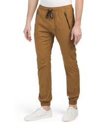Tj Maxx - Stretch Poplin Joggers With Zip Pockets - Lyst