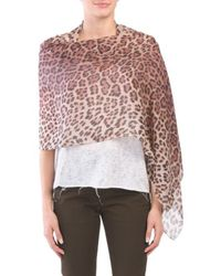 Tj Maxx - Made In Italy Leopard Print Wrap - Lyst