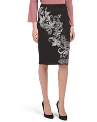 Tj Maxx Elastic Band Jacquard Pencil Skirt