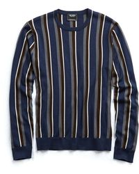 Todd Snyder - Italian Silk/cotton Vertical Stripe Jumper - Lyst