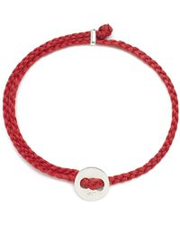 Scosha - Signature 4mm Bracelet In Silver And Scarlet - Lyst