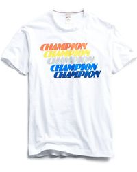 3ec234a6 Lyst - Todd Snyder Champion Classic T-shirt In Antique White in ...