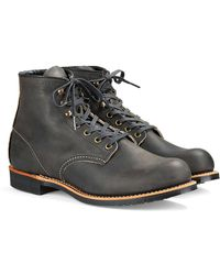 Red Wing - Red Wing Blacksmith Boot In Rough & Tough Leather In Charcoal - Lyst