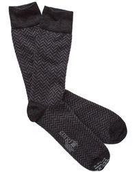 Corgi - Herringbone Socks In Charcoal - Lyst