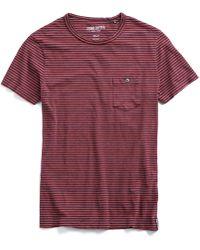 Todd Snyder - Indigo/red Stripe Button Pocket T-shirt - Lyst