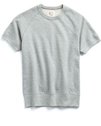 Todd Snyder - Short Sleeve Sweatshirt In Light Grey Mix - Lyst