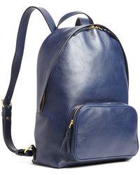 Lotuff Leather - Indigo Leather Backpack - Lyst