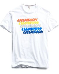 a8d4a8c368a9 Todd Snyder Champion Chest Panel Graphic T-shirt in Blue for Men - Lyst