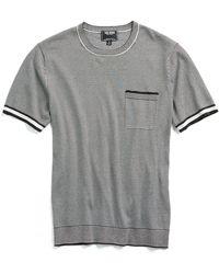 Todd Snyder - Italian Silk/cotton Feeder Stripe Short Sleeve Knit Crewneck - Lyst