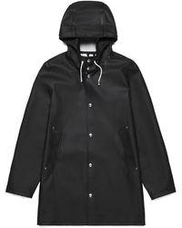 Stutterheim | Stockholm Basic Raincoat In Black | Lyst