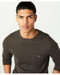 Todd Snyder - Cashmere T-shirt Sweater In Tobacco - Lyst