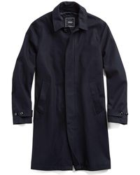Todd Snyder - Tech Wool Topcoat In Navy - Lyst