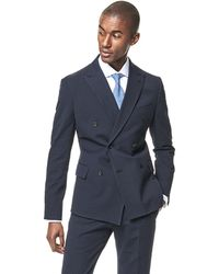 Todd Snyder - Southwick Db - Navy Washed Seersucker Solid - Navy - Lyst